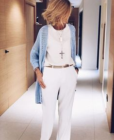 43 Unique Casual Style Outfits Every Girl Should Have 60 Fashion, Over 50 Womens Fashion, Fashion Over 50, Work Fashion, Fashion Trends, Mode Outfits, Chic Outfits, Fall Outfits, Summer Outfits