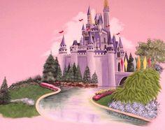 castle murals for girls bedrooms | Girls' Bedroom Murals - Mural Album