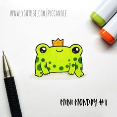 New video ~ Little Frog - Mini Monday #1 Watch this doodle on my YouTube channel: Pic Candle www.youtube.com/piccandle I'm starting this series called Mini Monday, where I'll draw small doodles like this one. This won't be a weekly series but I'll upload these kind of little doodles on Mondays #MiniMondayDoodle