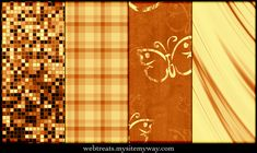 Warm Amber Patterns Part 3 by WebTreatsETC.deviantart.com on @deviantART