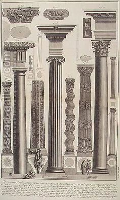 various columns and capitals