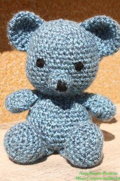 Teddy Mackó – EniAnyu Kuckója Crochet Teddy, Crochet Instructions, Crochet Animals, Crochet Stitches, Fiber Art, Diy And Crafts, Mac, Teddy Bear, Pattern