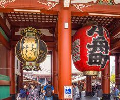 https://flic.kr/p/nAceq9   Enornous lanterns hang in the Hozo-mon Gate at the Sensoji temple in Tokyo