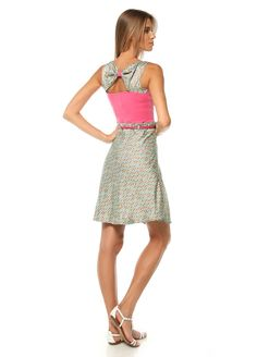 Multicolor Open Back Bow Dress by DYD @Markafoni