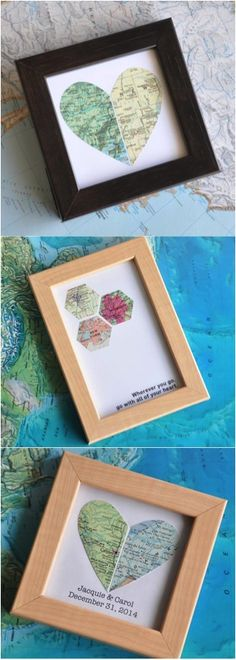 The perfect wedding gift represents the couple and all the places they've been together | Made on Hatch.co Fun Ideas, Decor Ideas, Gift Ideas, Map Maker, Special Friends, Arts And Crafts, Diy Crafts, Custom Map, Map Art