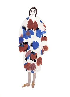 Sketch of Marni's F/W 2014 collection, by saintemaria.