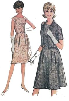 1960s Day Dress and Jacket sewing pattern by retroactivefuture