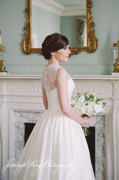 Caitlin & Benjamin Andrew. Dress by Augusta Jones