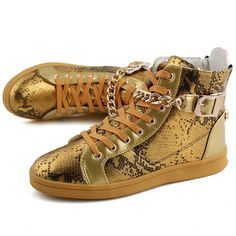 Buy Men Casual Shoes Sport Shoes With Metal Zipper, Black, Gold, Silver at  LeStyleParfait.Com for only $55.00 USD
