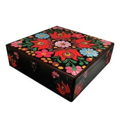 30cm x 30cm x 9cm-Beautiful Wooden Hand Made Accessories Box with Decoupage Technic-DBP-30x30-03