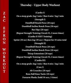 zac efron workout thursday
