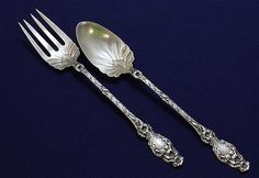 "Lily by Whiting Sterling Silver Baby Childs Set 2pc 5/"" Custom Made"