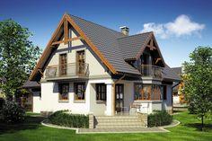 Wizualizacja Mój Dom Tapien CE Modern Bungalow House, Home Fashion, House Plans, Indoor Outdoor, Farmhouse, House Design, Cabin, Bedrooms, How To Plan