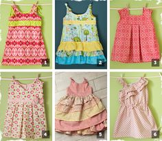 Two-Pack of Girls Dress PDF Patterns