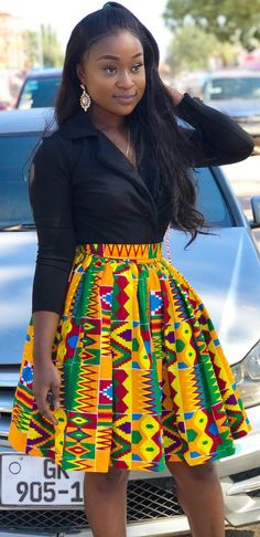 How to Rock African Print Styles to Lectures with Swag – Africavarsities Latest African Fashion Dresses, African Inspired Fashion, African Dresses For Women, African Print Fashion, Africa Fashion, African Attire, African Tops For Women, Ankara Fashion, African Women Fashion