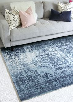 I am in LOVE with this rug!!! It is perfect and looks even better in person. (Home Office Makeover on The Decor Fix)