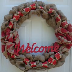 Summer Door Wreath/Spring Burlap Wreaths/Summer Burlap Wreaths/Spring wreaths for a door/Summer Front Door Wreaths/First Home Gift by oneofakindwreath. Explore more products on http://oneofakindwreath.etsy.com