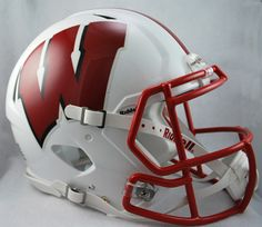 Wisconsin Badgers NCAA Authentic Speed Revolution Full Size Football Helmet from Riddell