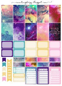 Free Printable Galaxy Planner Stickers from Counting Sheepy Planner 2018, To Do Planner, Free Planner, Planner Layout, Planner Pages, Happy Planner, Planner Inserts, Printable Planner Stickers, Journal Stickers