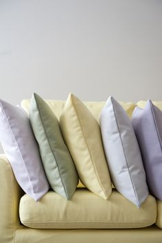 Happy Spring Colors! Vanilla Yellow Belgian, Tea Green, Lavender, Dusty Rose, A Paler Shade of Grey. Our suiting will come in these exciting colours