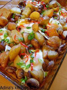 Retete mancare Gateste Inteligent Pranz delicios la cuptor Pork, Chicken, Ethnic Recipes, Foods, Star, Meal, Salads, Kale Stir Fry, Food Food