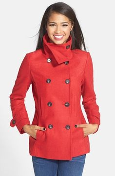 double breasted peacoat - great deal for the Fall $37!