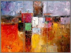 Urban Landscape Abstract Painting on canvas by chrisartpainting