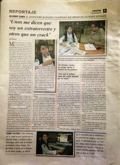 Para el periódico La voz del Tajo en papel
