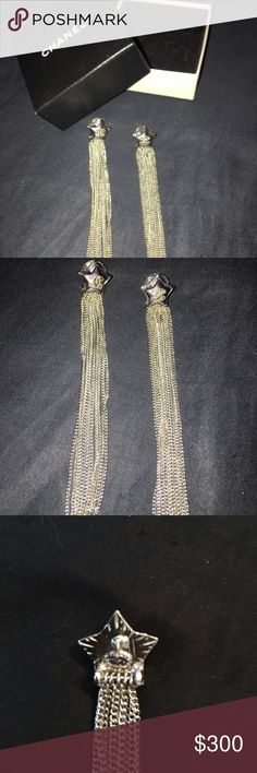 CHANEL Shooting Star Earrings Brand new in the box Chanel Shooting Star Earrings. Got them for Christmas but I can only wear 14kt gold, my loss is your gain. Price is FIRM, No offers. No trades. CHANEL Jewelry Earrings