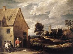 Village Scene - David Teniers the Younger, NG Prague