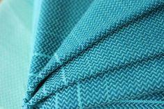 MADALO - Mar Verde in mini herringbone twill - itsmadalo - handwoven wrap - baby wearing - babywearing - wrap - baby wrap