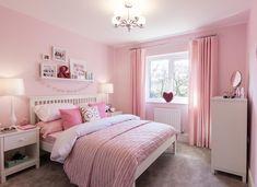 Dream Rooms, Dream Bedroom, Girls Bedroom, Bedroom Decor, Bungalow Interiors, Pink Room, Living Room Paint, Luxurious Bedrooms, Beautiful Bedrooms