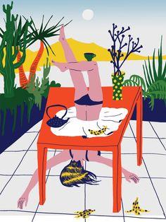 VO | Valérie Oualid : Agent d'illustrateurs | Ludwick Hernandez | L'été Illustration, Wallpaper, Artist, Wallpapers, Artists, Illustrations