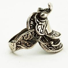 Saddle Ring Vintage Western Sterling Silver Pinky or by Spoonier