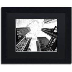 Trademark Fine Art Times Square Skyscrapers Canvas Art by Philippe Hugonnard, Black Matte, Black Frame, Size: 11 x 14, White