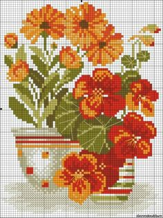 floral / jenn / orange / red / spring