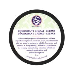 Soapwalla Citrus Deodorant Cream is a powerful natural deodorant. Superfine vegetable powders and clays and a combination of citrus essential oils absorb moisture, inhibit bacteria, and ensure a long-lasting and highly effective odor-control experience. #greenbeauty