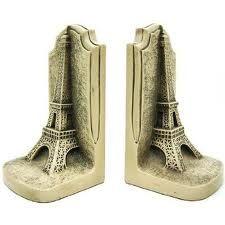 Eiffel Tower book ends.