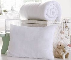 Cot Bed Duvet Quilt 4.5 tog Baby Toddler Junior and Pillow Summer Spring warm