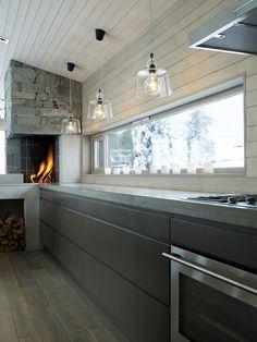 Kitchen-Fireplace/oven in Norwegian kitchen; Deco Design, Küchen Design, Design Ideas, Oven Design, Design Concepts, Design Trends, Chalet Design, Interior Architecture, Interior Design