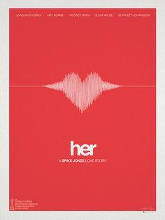 #Poster  - Her by Hunter Langston.   #Oscar #2014 .