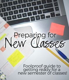 The complete guide to prepping for a new semester of classes! #College #Organize