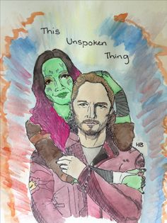 Gamora and Peter, by Holly Bartels