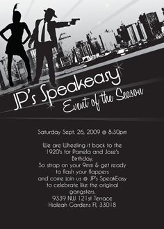 1920s or 1940s themed Party Invitation  Print by MrsInvitation, $15.00