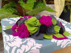 Hermosos Cintillos De Flores De Tela Y En Fieltro - Bs. 950,00 en MercadoLibre