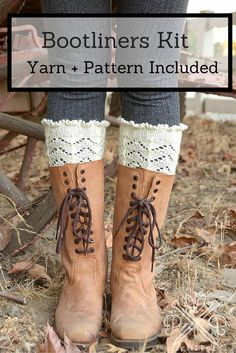 Beautifully accent your boots with the stylish Ruffled Asheville Bootliners Kit! You'll receive a Pam Powers pattern and Cascade 220 Superwash to work up these lovely liners. Blended from 100% merino wool and available in an array of colors, this cozy, durable yarn will ensure your bootliners keep you warm without uncomfortable bulk.
