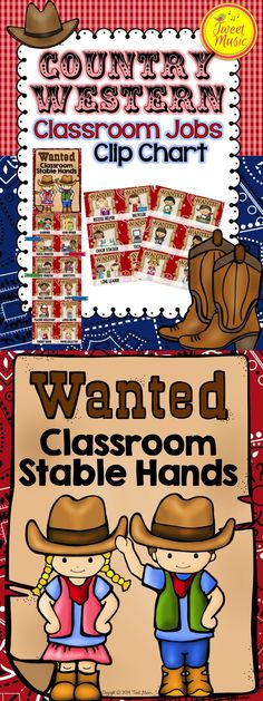 Yeehaw! Decorate your classroom this year with this adorable Country Western themed decor. This Classroom Jobs Clip Chart is sold individually and as part of a bundled set. $
