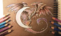 Moon dragon by AlviaAlcedo on DeviantArt