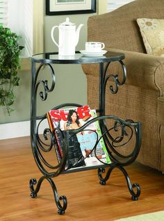 Traditional Silver Gun Metal Accent Table By Coaster Furniture
