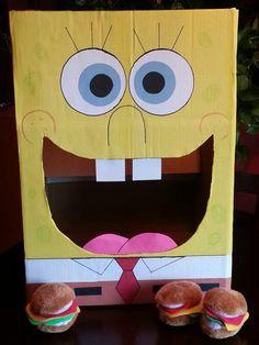Spongebob krabby patty game. For my sons 5th Birthday